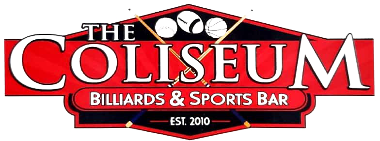 coliseum on haywood sports bar and grill logo